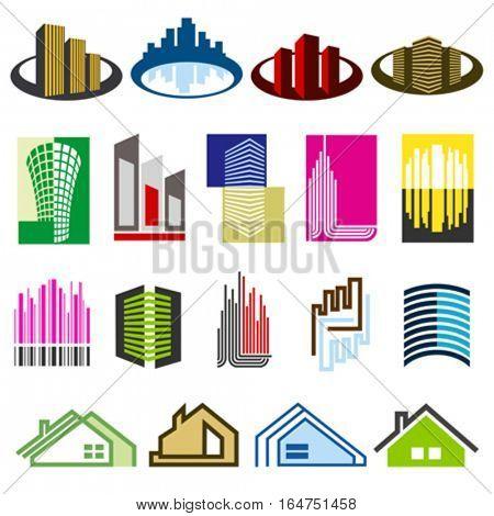 Real Estate. Elements for design. Vector illustration.