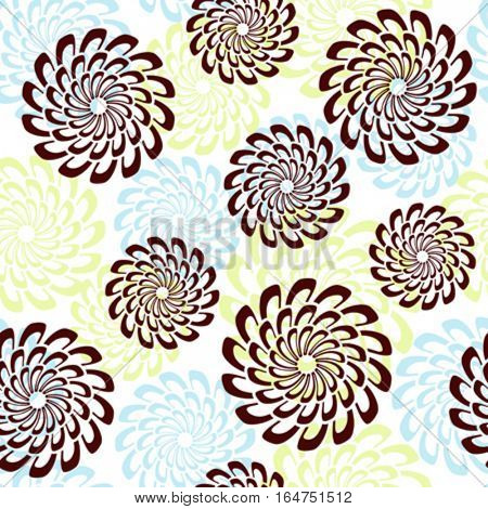 Seamless floral background. Repeat many times. Vector illustration.