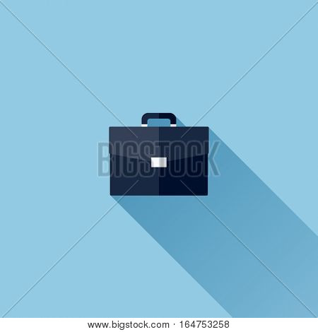 Modern flat vector icon of briefcase