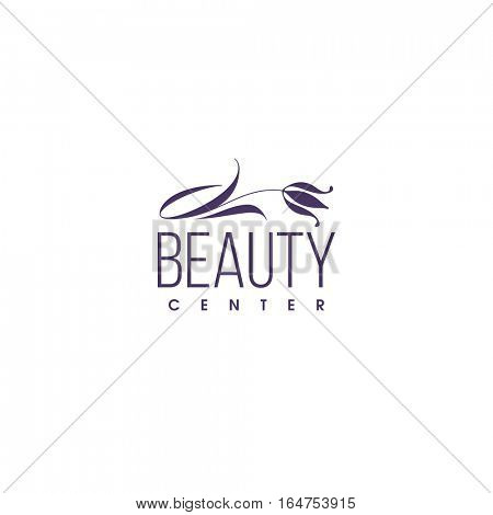 Beauty clinic logo design vector template. Tulip icon