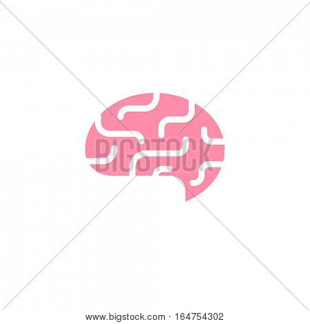 Abstract brain logo. Idea or creativity themed icon