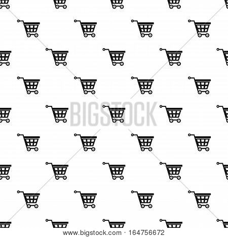 Shopping cart pattern. Simple illustration of shopping cart vector pattern for web