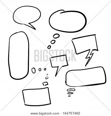Speech bubble collection. Isolated bubble speech set