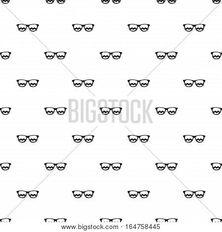 Sunglasses pattern. Simple illustration of sunglasses vector pattern for web