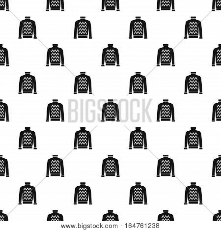 Warm sweater pattern. Simple illustration of warm sweater vector pattern for web