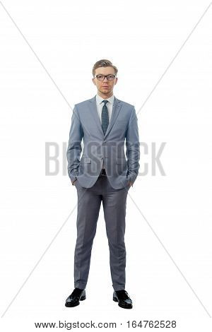 image of a young man in a tie with glasses