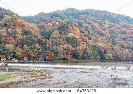 Togetsukyou Bridge Arashiyama Japan in autumn season