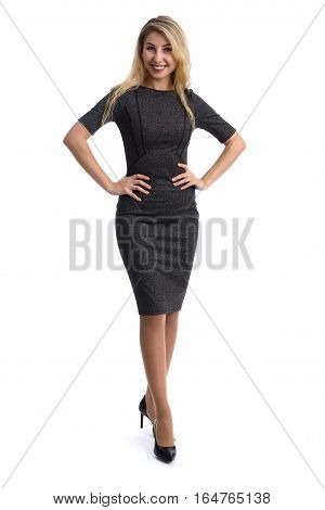 Full Length Portrait Of A Woman