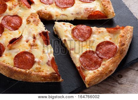 Pepperoni Pizza On Table
