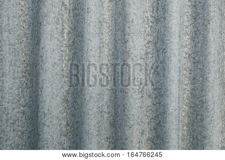 Corrugated silver galvanized sheet metal detail, neutral modern gray background sheet