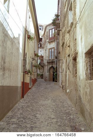 Capaccio chief town: Giuseppe Verdi street in downtown Capaccio