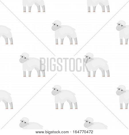 Sheep icon cartoon. Single bio, eco, organic product icon from the big milk cartoon. - stock vector