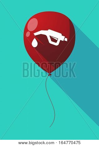 Long Shadow Balloon With  A Gas Hose Icon