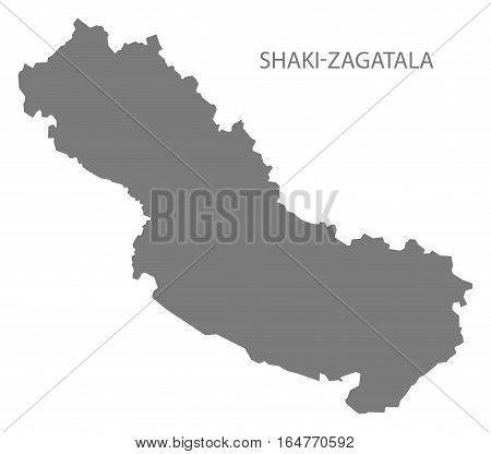 Shaki-Zagatala Azerbaijan Map grey region silhouette illustration
