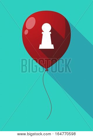 Long Shadow Balloon With A  Pawn Chess Figure