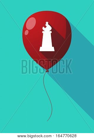 Long Shadow Balloon With A Bishop    Chess Figure