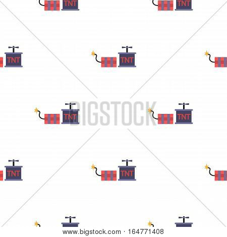 Dynamite icon in cartoon style isolated on white background. Mine pattern vector illustration.