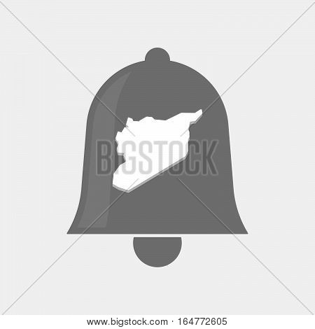 Isolated Bell With  The Map Of Syria