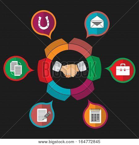customer relationship management, partnership, hanging, business, friendship fully editable vector image