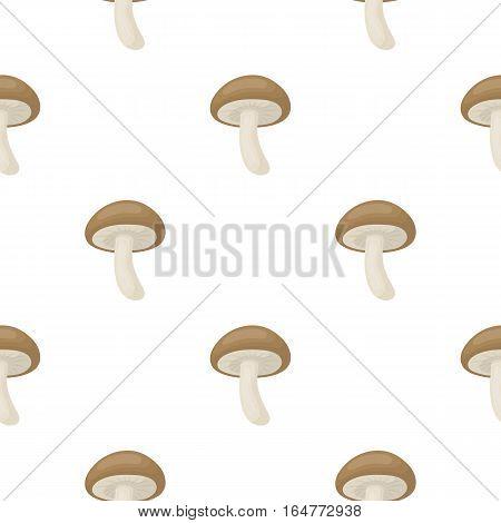 Shiitake icon in cartoon style isolated on white background. Mushroom pattern vector illustration.