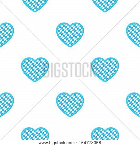 Oktoberfest heart icon in cartoon style isolated on white background. Oktoberfest pattern vector illustration.