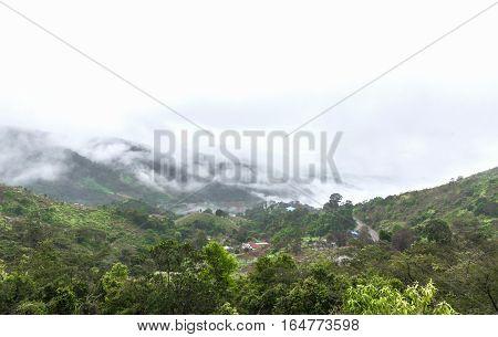 The view point of Doi Pha tang mountain. Chiang Rai Thailand