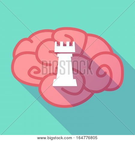 Long Shadow Brain With A  Rook   Chess Figure