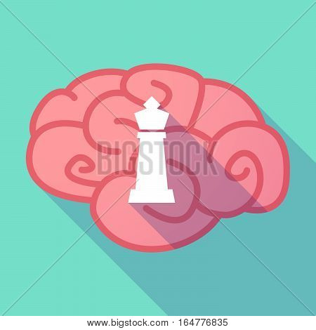 Long Shadow Brain With A  King   Chess Figure