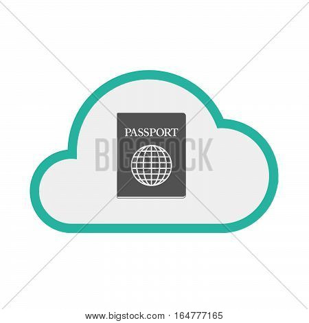 Isolated Cloud With  A Passport