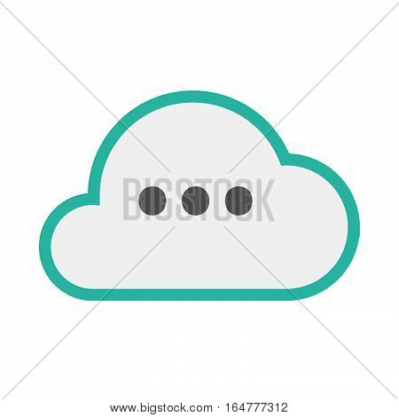 Isolated Cloud With  An Ellipsis Orthographic Sign