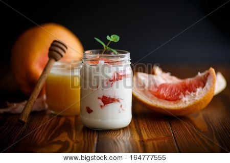 Greek Yogurt With Grapefruit