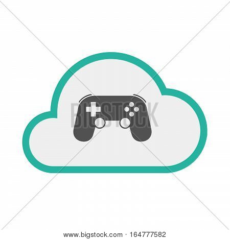 Isolated Cloud With  A Game Pad