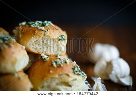 Lush Homemade Buns With Garlic And Dill