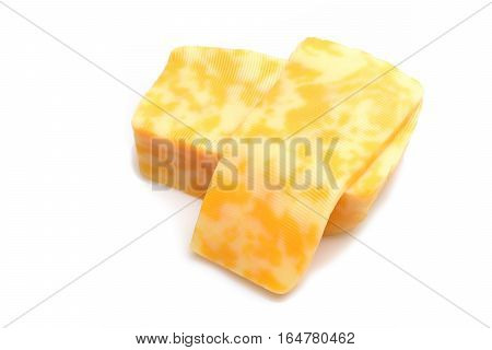 Marbled Cheese Isolated On White