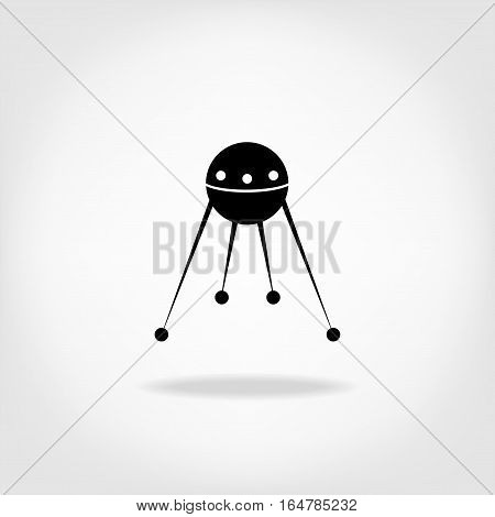 Vector satellite sign icon space object icon