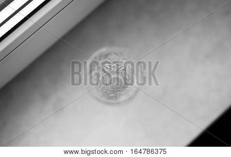 Black and white glass on windows desk background hd