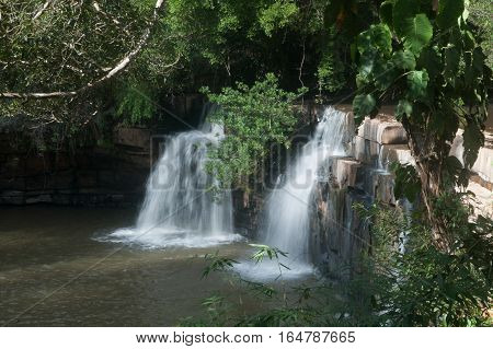 Sri Dit waterfall in Tungsalanglung National Park in Thailand.