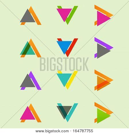 Arrow sign icon set. Vector design eps10.