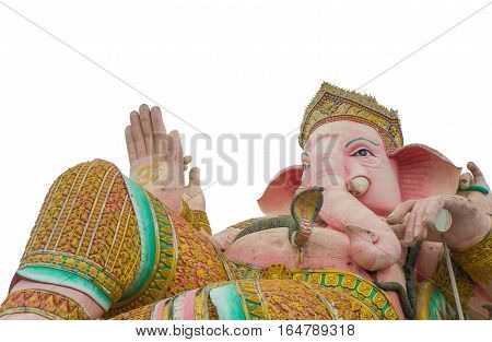 Isolated Lord Ganesha Statue on White Background