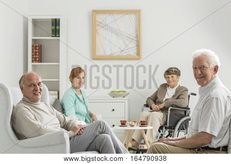 Recreation Room With Seniors