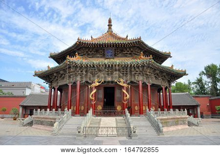 Shenyang Imperial Palace (Mukden Palace) Dazheng Hall, Shenyang, Liaoning Province, China. Shenyang Imperial Palace is UNESCO world heritage site built in 400 years ago.