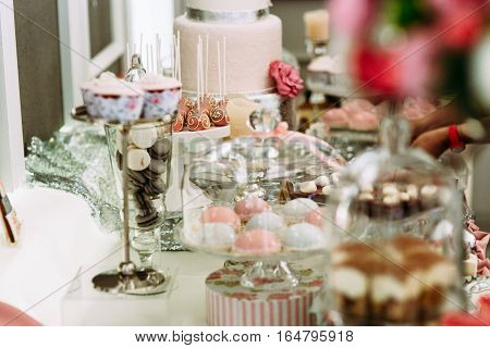 Wonderful Assortie Of Desserts And Other Sweets