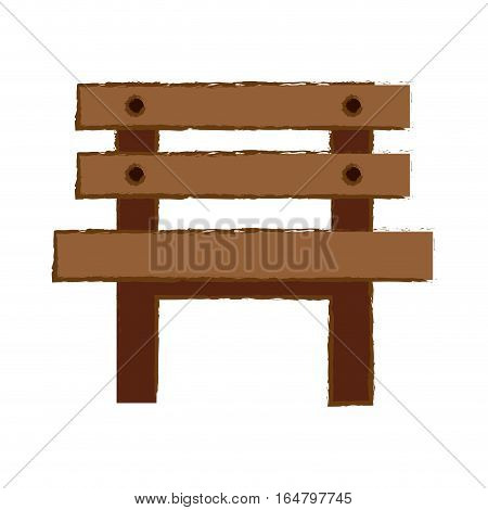 oudoors bench icon image vector illustration design
