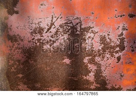 Rust closeup texture. Abstract background. Rusty corrosion