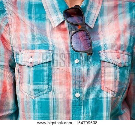 Girl In Plaid Shirt.