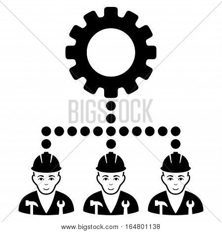 Service Staff vector icon. Flat black symbol. Pictogram is isolated on a white background. Designed for web and software interfaces.