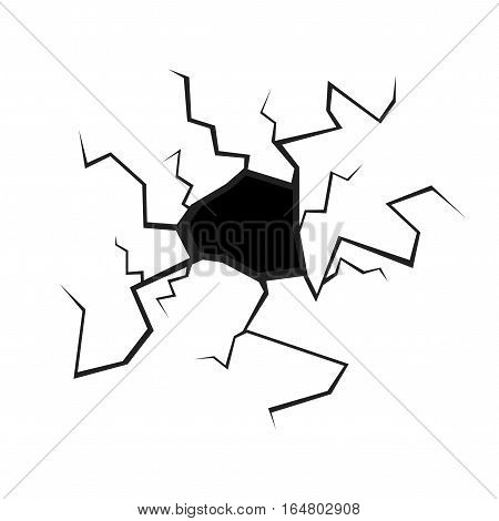 Black Hole or Crack in the Wall for Business Card, Banner, Poster. Vector illustration