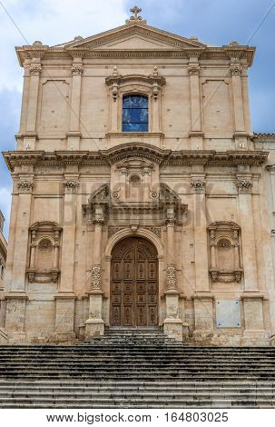 Church of Saint Francis of Assisi in Noto city Sicily in Italy