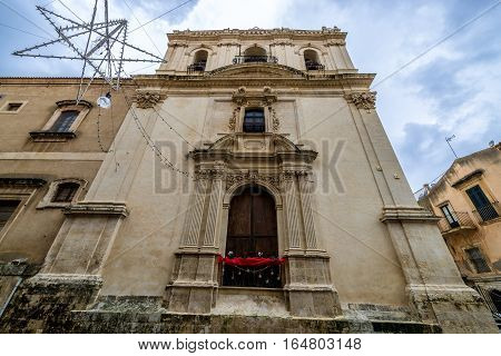 Saint Clare of Assisi church in Noto city Sicily in Italy