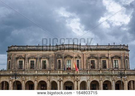 Ducezio Palace in Noto city Sicily in Italy